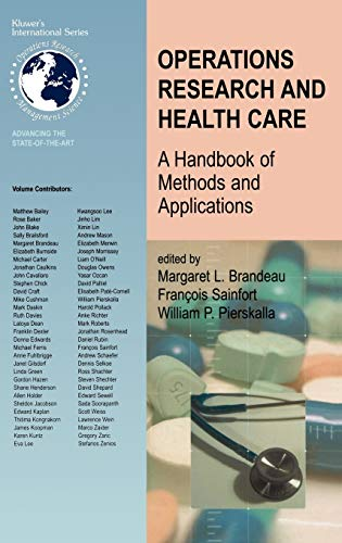 Operations Research and Health Care: Margaret L. Brandeau