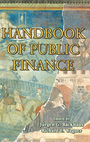 9781402078637: Handbook of Public Finance