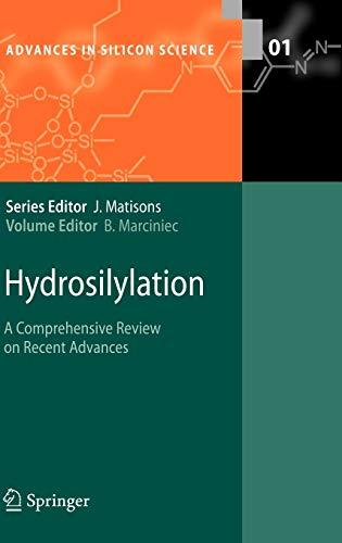 Hydrosilylation: A Comprehensive Review on Recent Advances (Hardback)