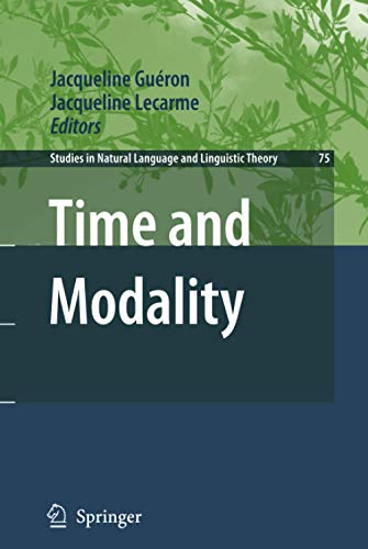 9781402083532: Time and Modality (Studies in Natural Language and Linguistic Theory)