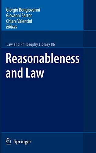 Reasonableness and Law: Giorgio Bongiovanni