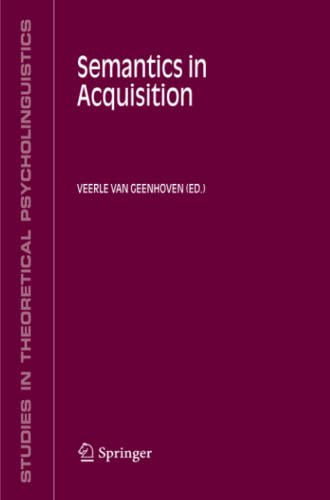 Semantics in Acquisition: Veerle van Geenhoven