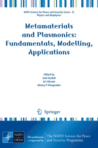9781402094064: Metamaterials and Plasmonics: Fundamentals, Modelling, Applications (NATO Science for Peace and Security Series B: Physics and Biophysics)