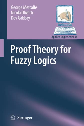 9781402094088: Proof Theory for Fuzzy Logics (Applied Logic Series)