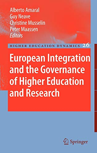 9781402095047: European Integration and the Governance of Higher Education and Research (Higher Education Dynamics)