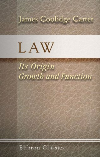 9781402157196: Law: Its Origin, Growth and Function: Being a Course of Lectures Prepared for Delivery before the Law School of Harvard University