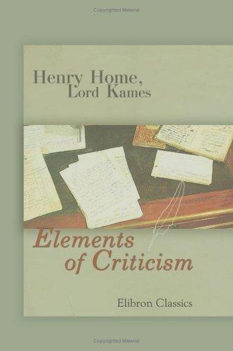 9781402166525: Elements of Criticism