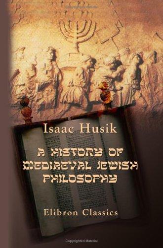 9781402185274: A History of Mediaeval Jewish Philosophy