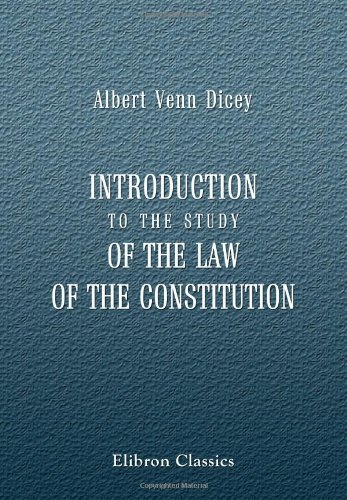 9781402185557: Introduction to the Study of the Law of the Constitution