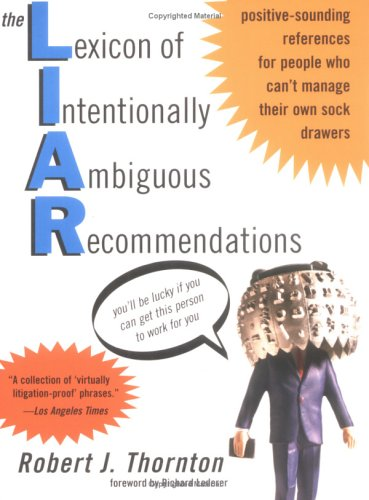 9781402201394: The Lexicon of Intentionally Ambiguous Recommendations (L.I.A.R.)