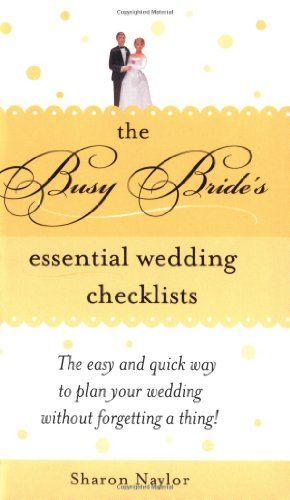 9781402205040: The Busy Bride's Essential Wedding Checklists