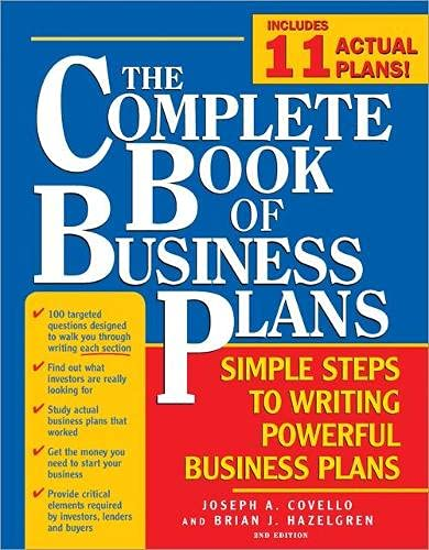 9781402207631: The Complete Book of Business Plans: Simple Steps to Writing Powerful Business Plans