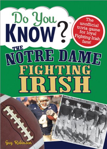 9781402214592: Do You Know the Notre Dame Fighting Irish?: A hard-hitting quiz for tailgaters, referee-haters, armchair quarterbacks, and anyone who'd kill for their team