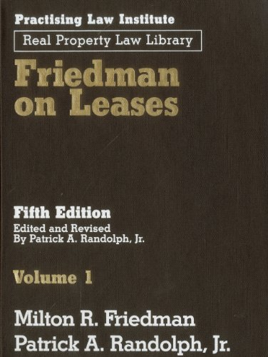 Friedman on Leases (3 Volume Set): Friedman, Milton R.