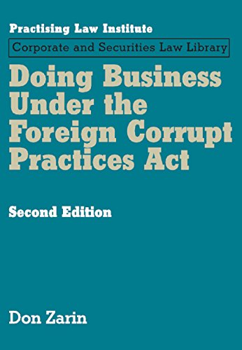 Doing Business Under the Foreign Corrupt Practices ACT (Hardback): Don Zarin