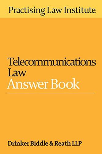 9781402424090: Telecommunications Law Answer Book 2016