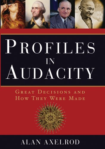 9781402732829: Profiles in Audacity: Great Decisions and How They Were Made