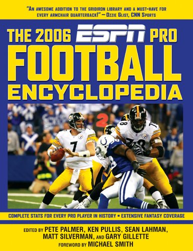 The ESPN Pro Football Encyclopedia First Edition: Editor-Pete Palmer; Editor-Ken