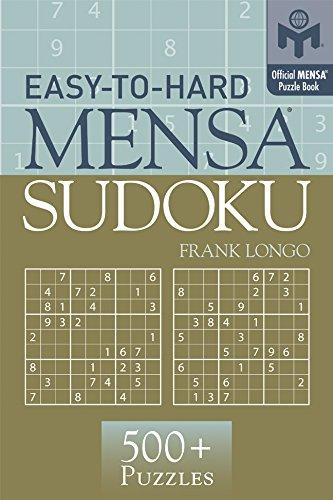 9781402746512: Easy-to-Hard Mensa® Sudoku