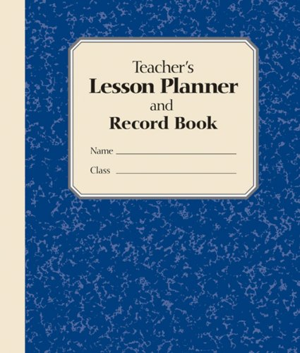 9781402747076: Teacher's Lesson Planner and Record Book (blue)