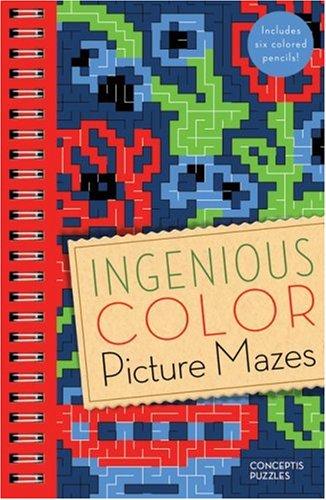 Ingenious Color Picture Mazes: Conceptis Puzzles