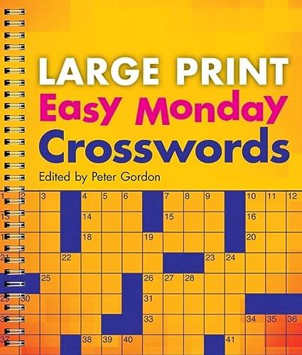 9781402790294: Large Print Easy Monday Crosswords (Large Print Crosswords)