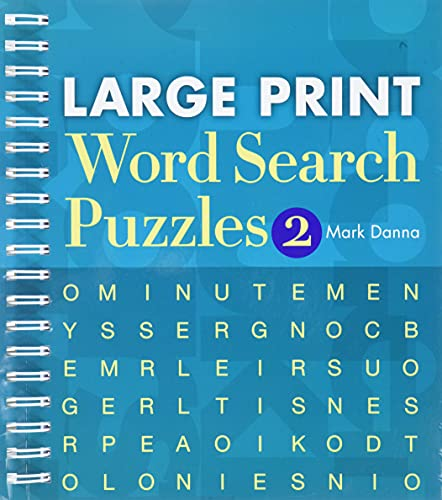 Large Print Word Search Puzzles 2: Danna, Mark