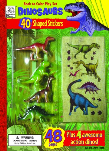 Book to Color Play Set: Dinosaurs with Toys, Stickers and Giant Poster (Play Sets): Dalmatian Press
