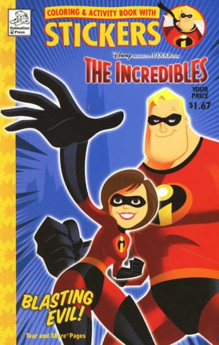 9781403711014: Coloring & Activity Book with Stickers : The Incredibles