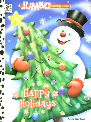 9781403715883: Happy Holidays Jumbo Book to Color (Jumbo Coloring Book)