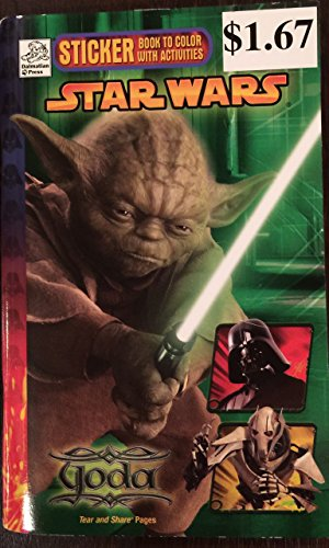 9781403718969: STAR WARS STICKER BOOK to color with activities - YODA (STAR WARS, 1)