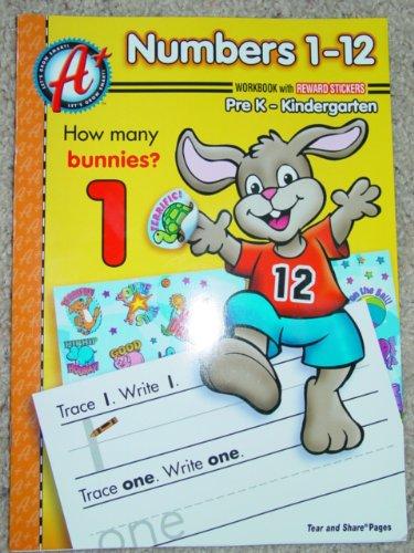 9781403722591: Number 1-12 Pre-K-Kindergarten Workbook (Let's Grow Smart Series, How Many Bunnies 1)