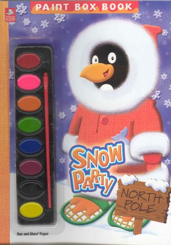 Snow Party: Paint Box Book [With Paint Brush and Paint Box]: Dalmatian Press