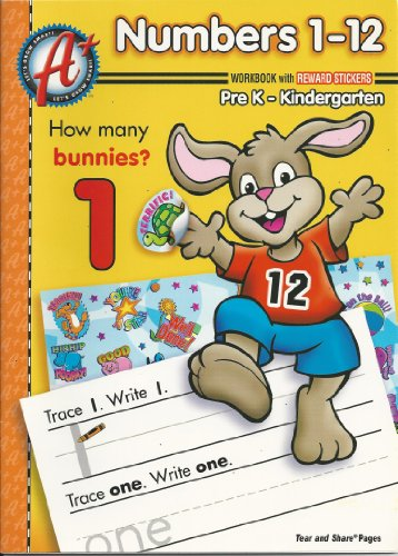 9781403746856: Numbers 1-12 Pre K-kindergarten Workbook with Reward Stickers (Let's Grow Smart A+)