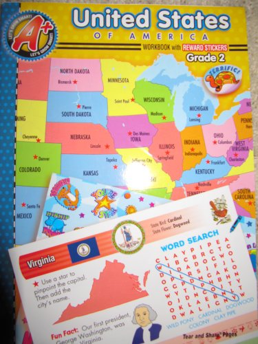9781403748522: United States Workbook with Reward Stickers - Grade 2 (A+ Let's Grow Smart)