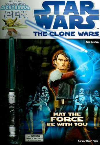 9781403750938: Star Wars: The Clone Wars : Book to Color With Lightsaber Pen