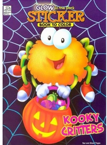 9781403751102: Kooky Critters (Glow in the Dark Sticker Book to Color)