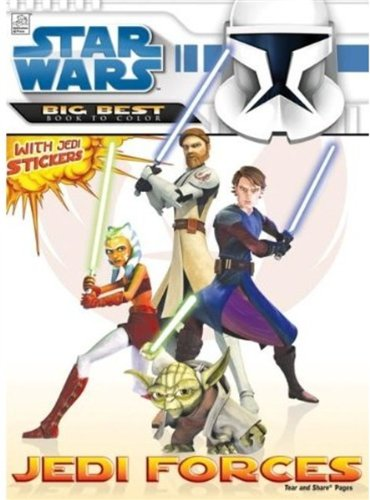 9781403752338: Star Wars Clone Wars: Jedi Forces Big Best Book to Color with Stickers (Star Wars: Clone Wars (Dalmation))