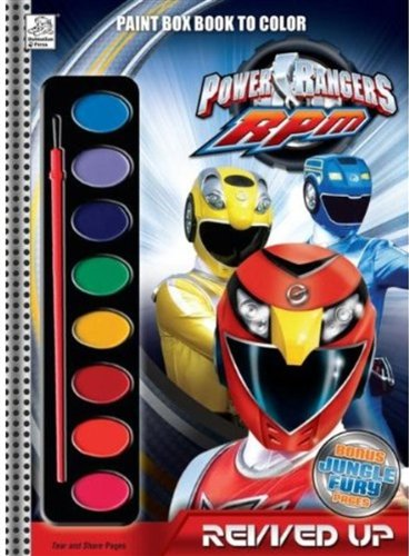 9781403754936: Power Rangers: Revved Up Paint Box Book to Color