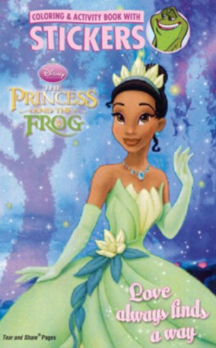 9781403758316: Disney Princess and the Frog Coloring & Activity Book with Stickers: Love Always Finds a Way