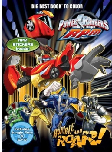 Power Rangers: Rumble and Roar Big Best Book to Color with Stickers (Power Rangers: RPM) (1403758522) by Dalmatian Press
