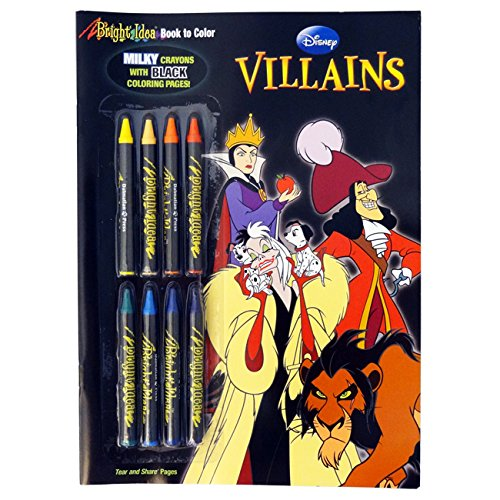 9781403764256: Disney Villains Bright Idea Book to Color with 8 Crayons