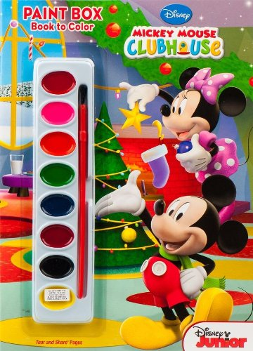 9781403767684: Disney Mickey Mouse Clubhouse Paint Box Book to Color