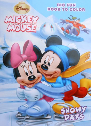 9781403781680: Mickey Mouse Big Fun Book to Color ~ Holiday on Ice (Holiday on Ice)