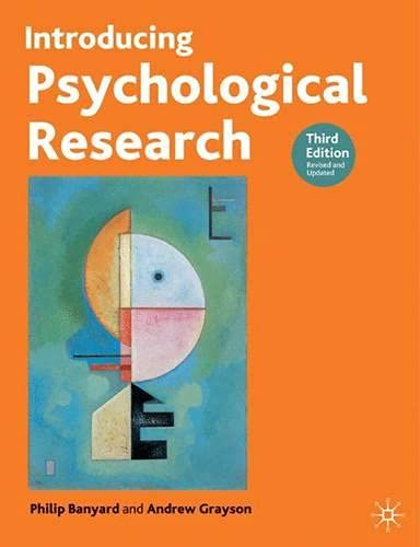 9781403900371: Introducing Psychological Research