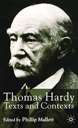9781403901316: Thomas Hardy: Texts and Contexts