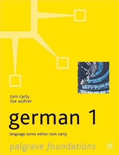 9781403902368: Foundations German 1