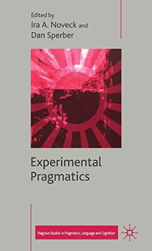 9781403903501: Experimental Pragmatics