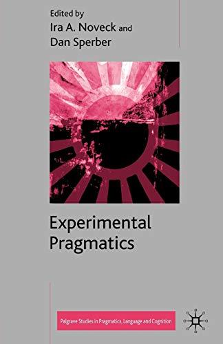 9781403903518: Experimental Pragmatics