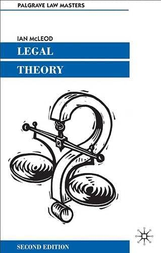 Legal Theory (Palgrave Law Masters): McLeod, Ian
